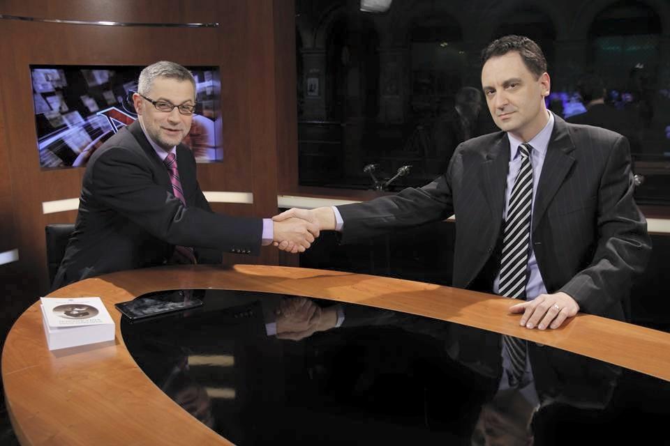 Dumitru Bădrăgan alături de Radu Moraru, la Nașul TV