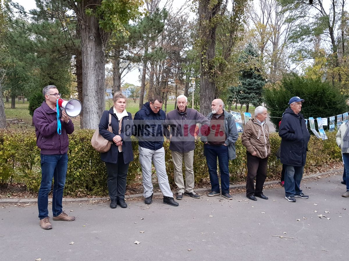 protest in parcul tabacarie
