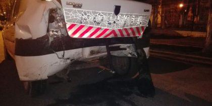 sofer beat masina politie