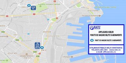 Harta chioșcurilor noi ale RATC Constanța