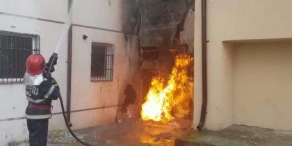 incendiu conducta gaz