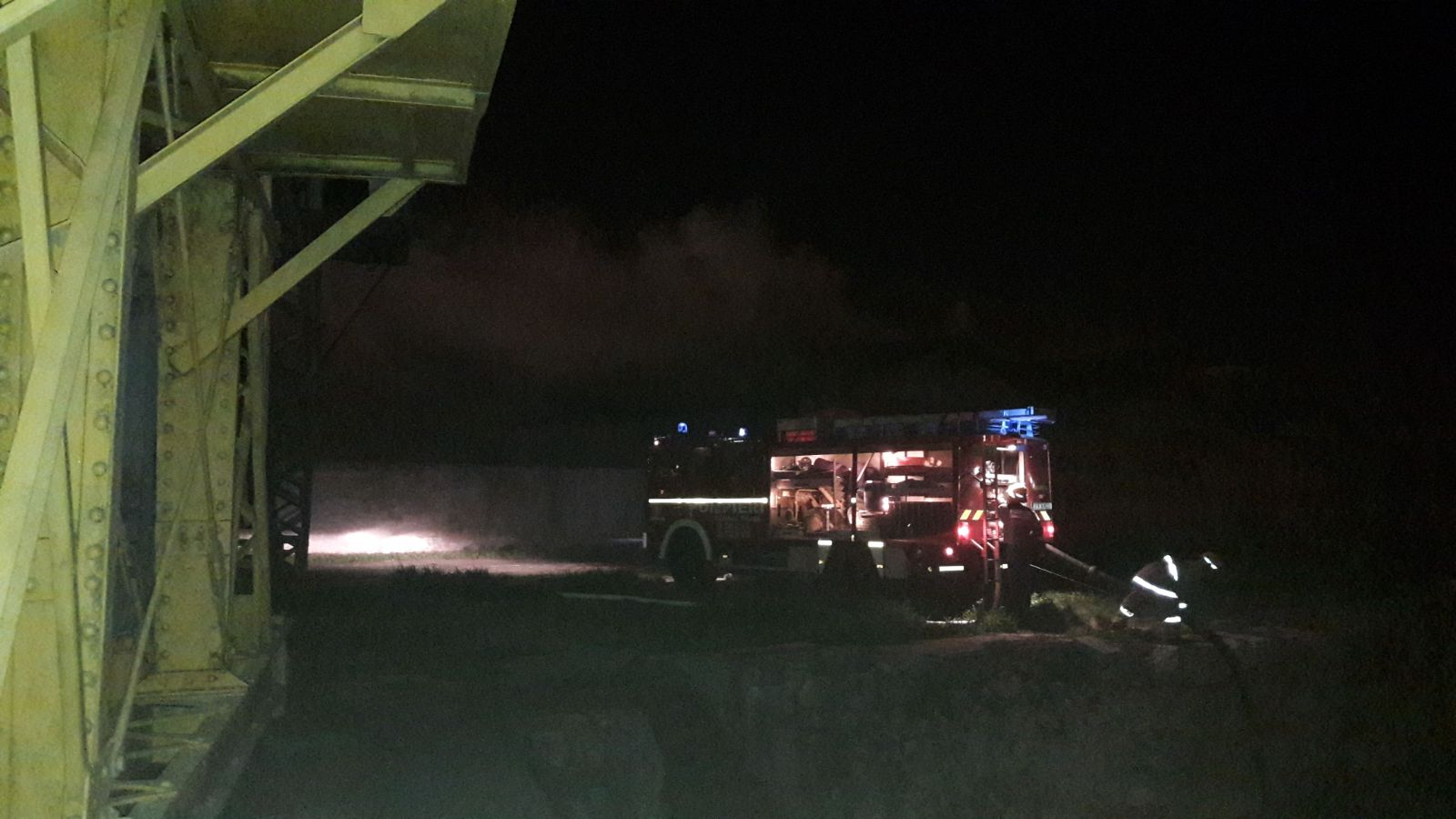 incendiu port